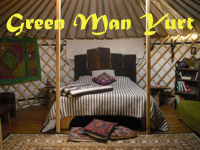 click here for Green Man Yurt page
